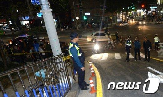 [사진]통제된 '오패산터널 총기사건' 현장