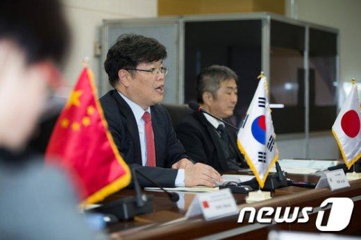 [사진]박제국 인사혁신처 차장, 한·중·일 국제심포지엄 환영사