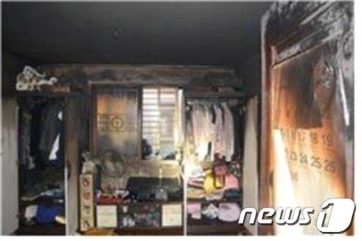 화재현장모습. (서울 구로소방서 제공) © News1