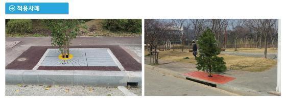 ▲ 광주광역시 북구 비엔날레로에 설치된 '수목여과박스'