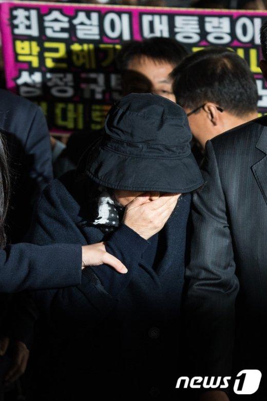[사진]고개 떨군 최순실