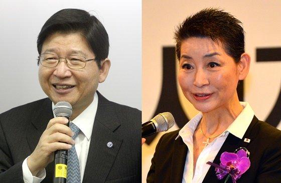 정갑영 전 연세대 총장(왼쪽), 김성주 대한적십자사 총재./ 사진제공=뉴스1