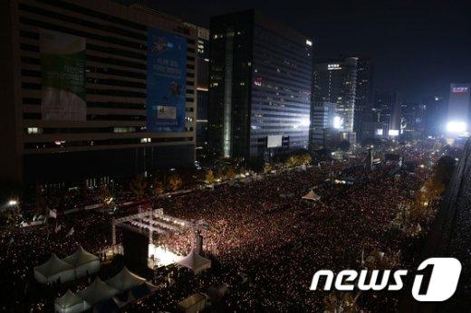 [사진]박근혜 대통령 퇴진 요구 민중총궐기 대회
