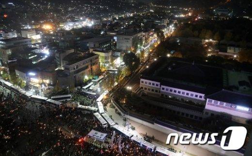 [사진]차벽에 막힌 시민들