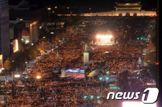 [사진]대통령의 퇴진을 촉구하는 촛불집회