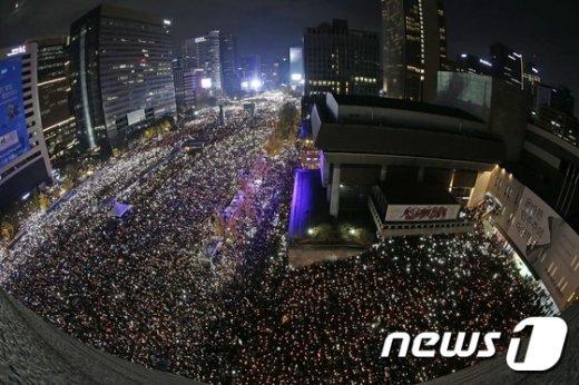 [사진]박대통령 하야 촉구 100만 촛불