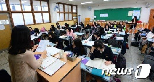 서울 한 고등학교의 수업 장면. /뉴스1 © News1