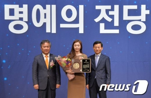 [사진]김연아, 스포츠영웅 명예의 전당 헌액