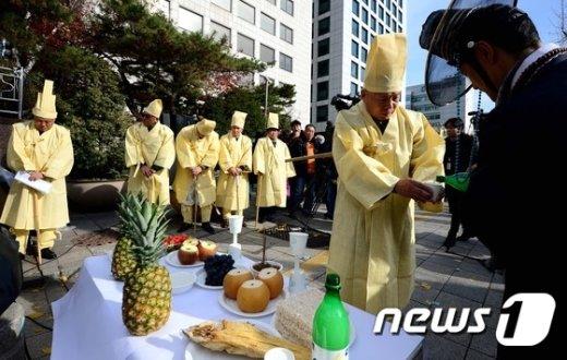 [사진]'개성공단 죽인 박근혜 정권에 분노한다'