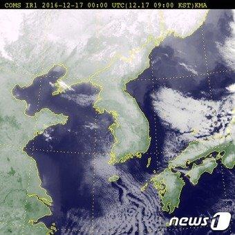 17일 오전 9시 기준 전국 위성사진 (출처 기상청) © News1