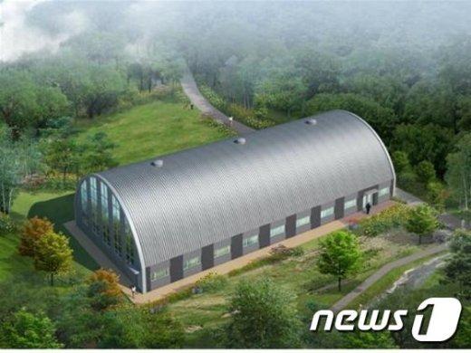 청룡산 실내 배드민턴장 조감도.(관악구 제공)/뉴스1 © News1