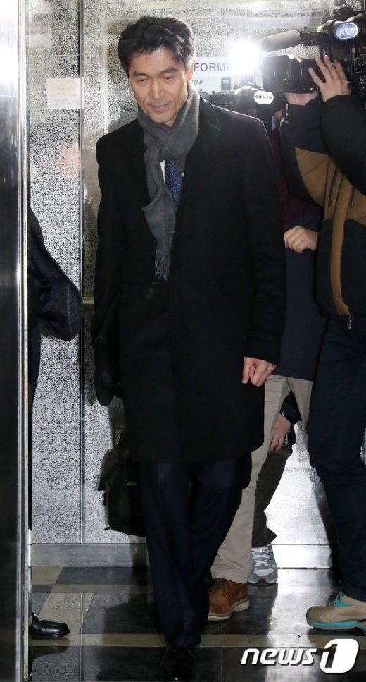 [사진]모철민 프랑스 대사 특검 출석