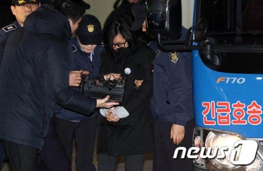 [사진]'삼성특혜' 장시호 특검 첫 소환