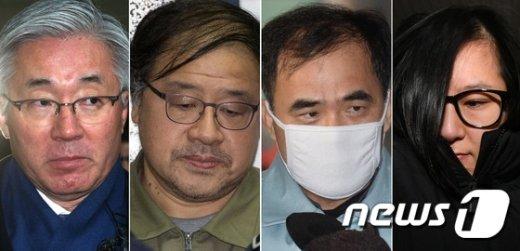 [사진]특검 줄소환된 '블랙리스트·삼성특혜 의혹' 4인방