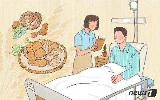 병원에 입원한 음식물 알레르기 환자./© News1 이은주 디자이너