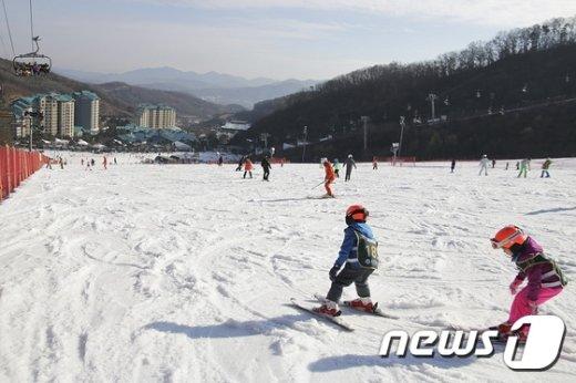 [사진]스키타기 좋은 날씨