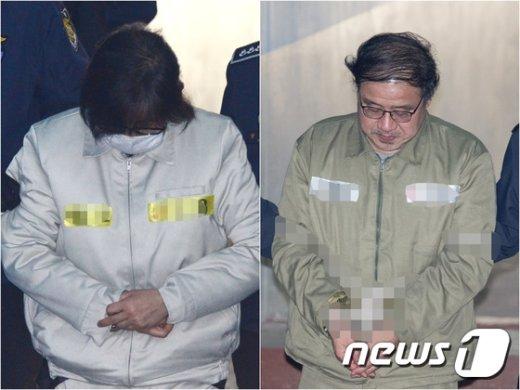 최순실씨와 안종범 전 청와대 정책조정수석.(왼쪽부터) © News1