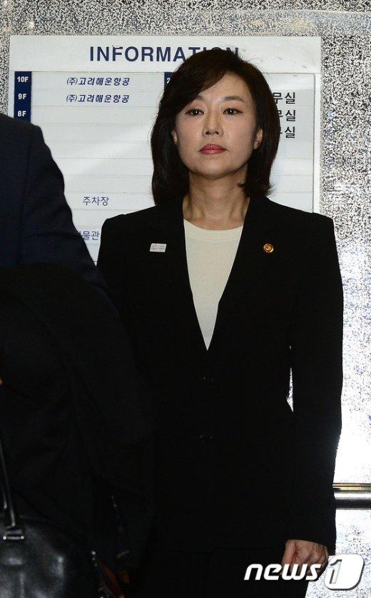 [사진]조윤선 장관 '구속 전 피의자심문 앞서 특검 출석'