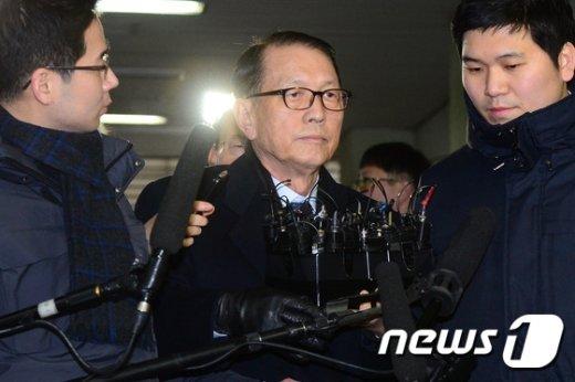 [사진]김기춘 전 靑 비서실장 '여전히 침묵'