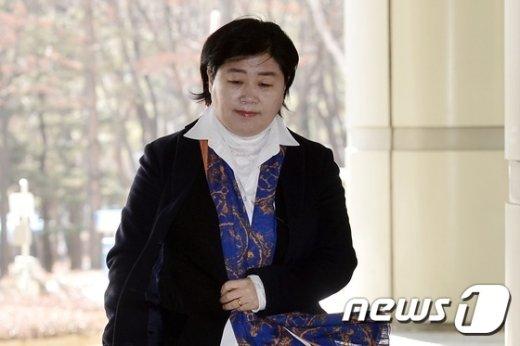 [사진]공직선거법 위반 항소심 공판 출석하는 서영교 의원