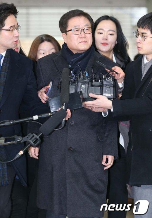[사진]박상진 사장 '묵묵부답'