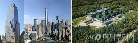 200 Liberty Street 오피스 빌딩 전경(좌측)과 Cricket Valley Energy Center 조감도(우측)/자료=키움투자자산운용.