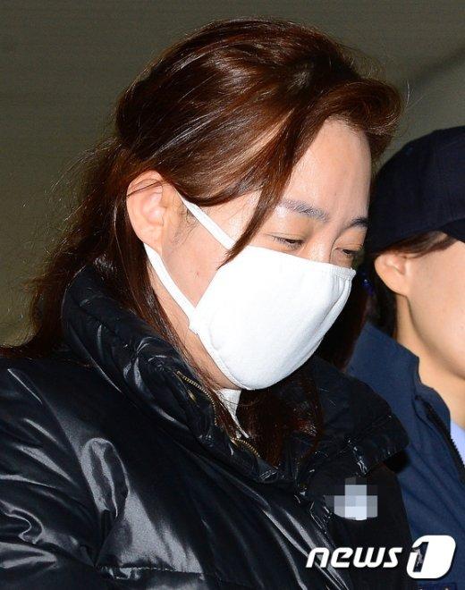 [사진]마스크로 얼굴 가린 박채윤