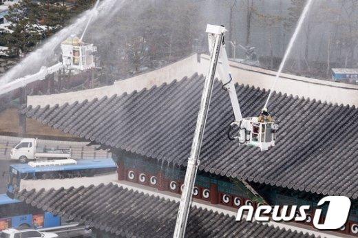 [사진]숭례문 화재 진압 훈련