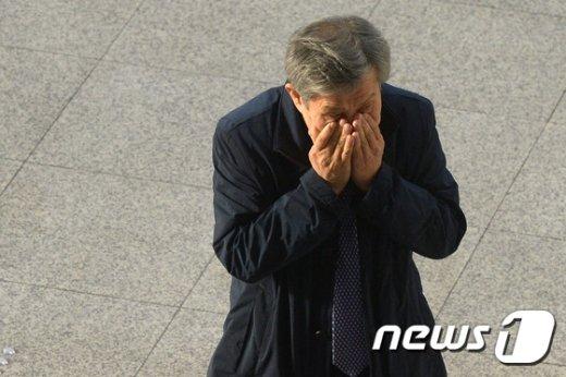 [사진]박찬호 전경련 전무 '법정에서 어떤 증언 할까?'