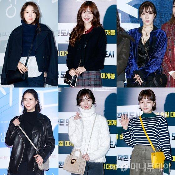 왼쪽 상단부터 시계방향으로 이지아, 진세연, 소녀시대 티파니, 고아라, 채수빈, 박진주 /사진=뉴스1, 머니투데이DB