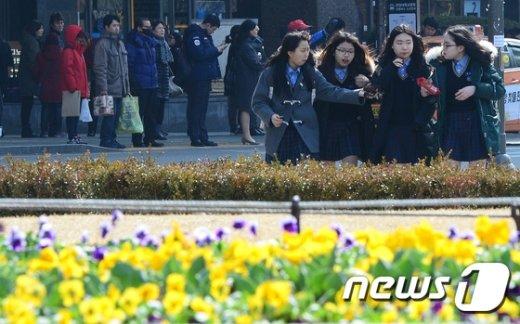 [사진]새학기 그리고 꽃샘추위