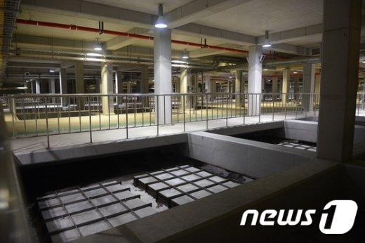 공사 중인 안양새물공원 지하 하수처리장의 모습.© News1