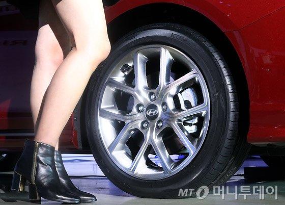 """[포토 is…]'쏘나타 뉴 라이즈' 공개 현장… """"기대 이상의 놀라운 변화"""""""