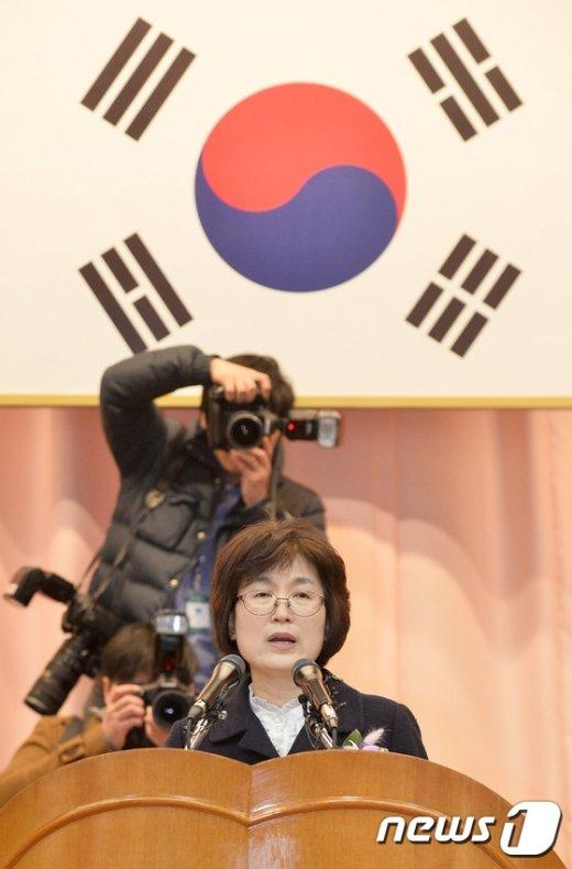 [사진]이정미 퇴임 '헌재 7인 체제'