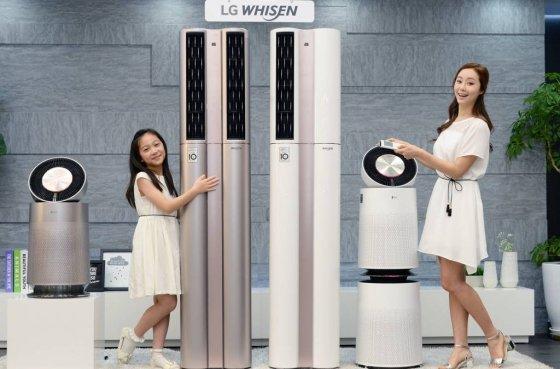 LG전자 2017년형 '휘센 듀얼 에어컨'. /사진제공=LG전자