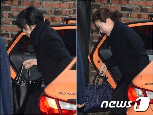 [사진]박근혜 前 대통령 검찰 출두 앞서 자택 출근한 정 자매