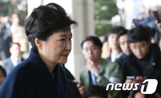 [사진]박근혜, 서울중앙지검 출석
