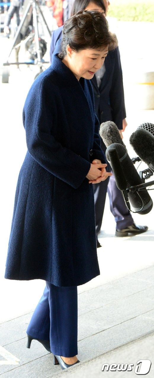 [사진]검찰 출석한 박근혜 전 대통령