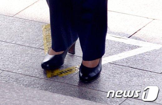 [사진]포토라인에 선 박근혜 전 대통령