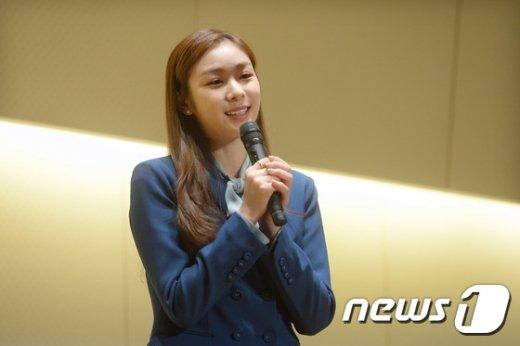 [사진]김연아 '평창 동계 올림픽을 위해 뛰겠습니다'