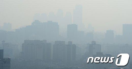 [사진]미세먼지 속 서울