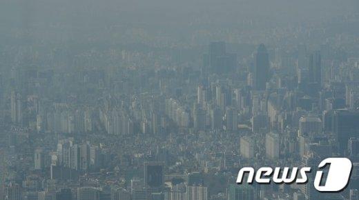 [사진]뿌연 서울 도심