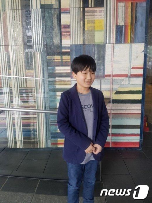 삼성전자 주주총회에 최연소 주주로 참석한 12세 유모군 © News1 DB