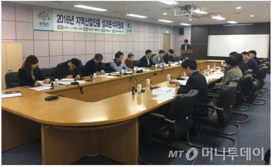 지난 17일 열린 '2016년 지역산업진흥사업 성과분석위원회' 모습./사진제공=충남테크노파크