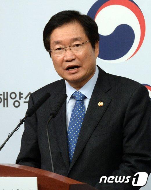 [사진]김영석 장관 '세월호 인양 뒤엔?'