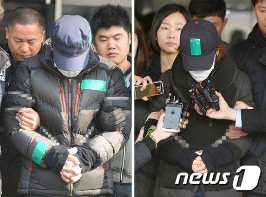 원영이 사건 계모 김모씨(왼쪽)와 친부 신모씨.© News1