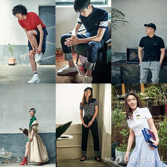 (왼쪽부터)박경진, 김준원, 이기백, 강이채, 이금영, 김지현/사진제공=라코스테