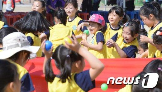 [사진]서울 용마초, 근로자의 날에 우리 아이 운동회 개최