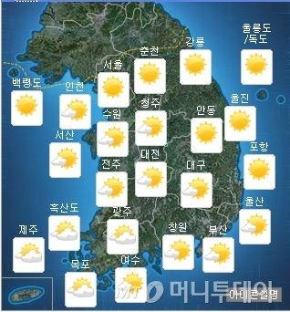 """전국 30도 안팎 초여름 더위… """"미세먼지 보통"""""""
