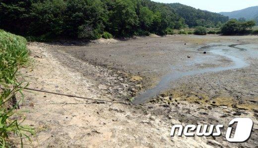 [사진]물 없는 저수지